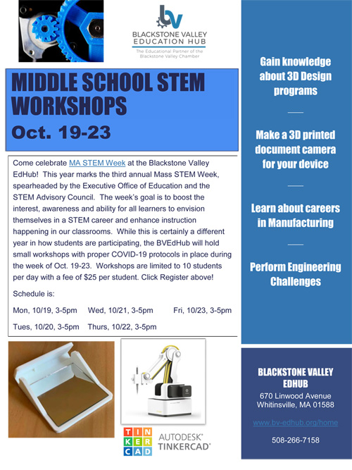 BV EdHub Middle School STEM Workshops